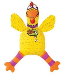 "Fat Cat 660164 Squeaker Chicken Dog Toy, 15"" Height X 5"" Width X 3"" Length"
