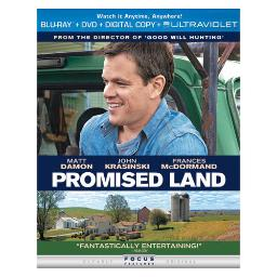 Promised land blu ray/dvd w/digital copy BR62123784