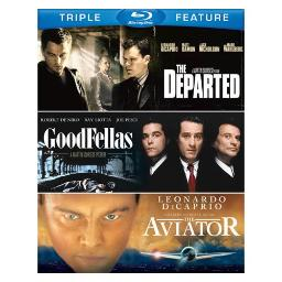 DEPARTED/GOODFELLAS/AVIATOR (BLU-RAY/3 DISC/TFE) 883929255313