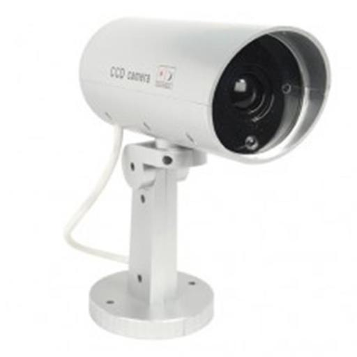 Safety Technology DM-MOTION Indoor or Outdoor Motion Activated Dummy Camera with Flashing Red LED Light DFKYRMR1B4CARRWT