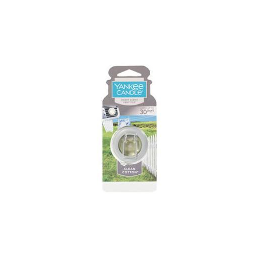 YANKEE CANDLE 1304391 SMART SCENT TM VENT CLIP CLEAN COTTON TM