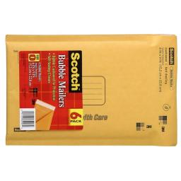 3m 7913-6 3m 7913-6 6 in. X 9 in. Scotch Bubble Mailers 6 Count
