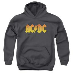 ACDC Logo Big Boys Youth Pullover Hoodie CHARCOAL