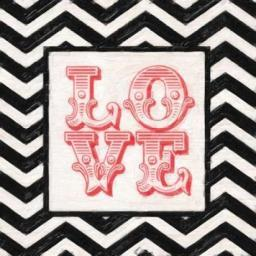 CHEVRON LOVE RED Poster Print by Taylor Greene PDXTGSQ203BSMALL