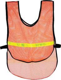 Action orange reflective vest