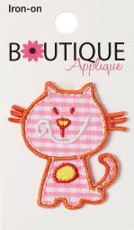 Iron-on Appliques-pink Cat