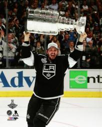 Slava Voynov with the Stanley Cup Trophy Game 5 of the 2014 Stanley Cup Finals Photo Print PFSAAQZ07501