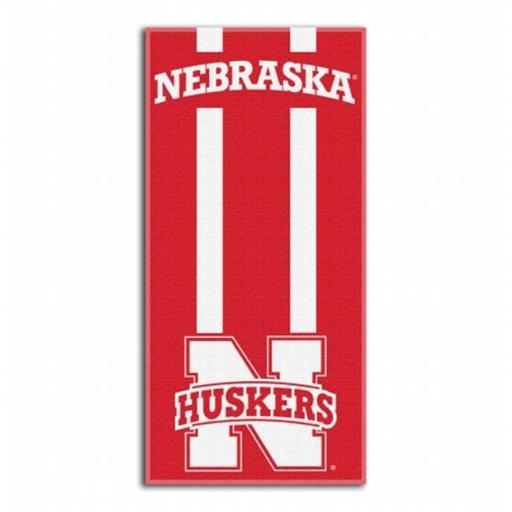 Northwest 1COL-62000-0006-RET NCAA Nebraska Zone Read Beach Towel, 60 x 30 in.