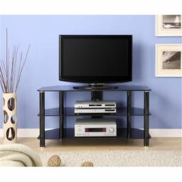 Innovex TC280G29 41 in. Glass TV Stand - Black
