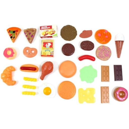 AZ Trading & Import PS38 Fast Food & Dessert Play Food Cooking Set for Kids - 30 Pieces