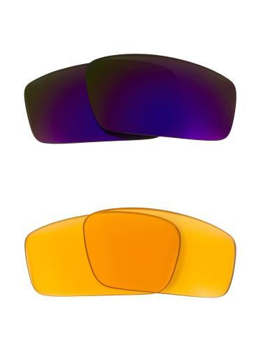 Best SEEK Replacement Lenses for Oakley SQUARE WIRE (2006) Amber Purple Mirror