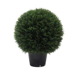 Vickerman TP171420 UV Cedar Ball Everyday Topiary in Pot - 20 in.