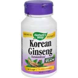 Nature's Way Korean Ginseng Standardized - 60 Vcaps