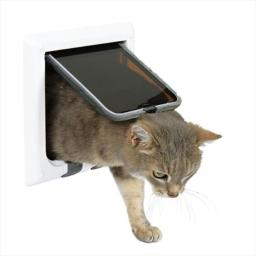 TRIXIE Pet Products 38621 Outdoor Run Doors 4-Way plastic Cat Flap