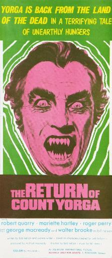 The Return Of Count Yorga Robert Quarry On Australian Poster Art 1971. Movie Poster Masterprint OYOIFRWIPAQIPOK1