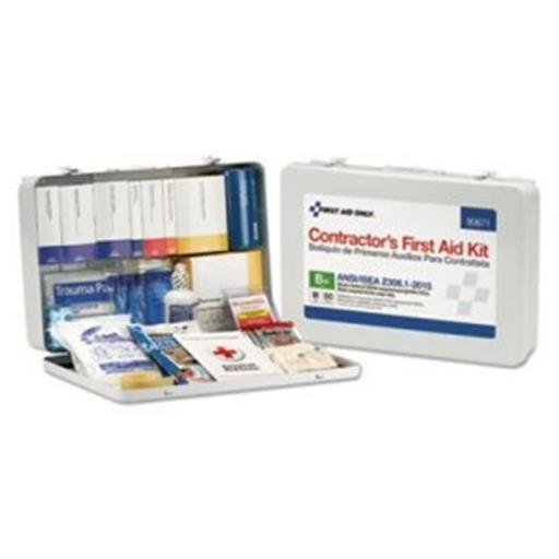 First Aid Only FAO90671 50 Person Contractor ANSI B Plus Kit with Metal Case & Type III