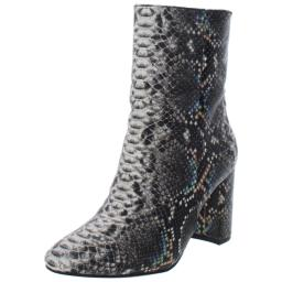 Chinese Laundry Womens Koraline Leather Snake Print Mid-Calf Boots
