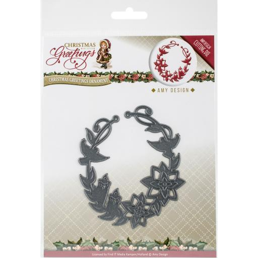 Find It Trading Amy Design Christmas Greetings Die Christmas Greetings Ornament