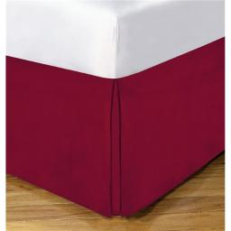 Lux Hotel FRE23614REDX06 14 in. Basic Microfiber Bedskirt, Red - Twin XL