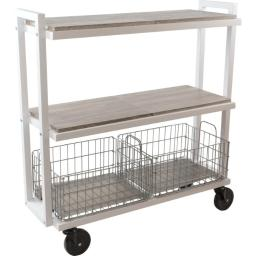 Atlantic-personal & portable 23350328 3tier wide white kart