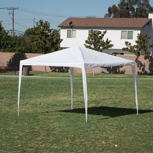 BELLEZE 10' x 10' feet Commercial Party Tent Gazebo Canopy Event Wedding Outdoor Backyard (White)