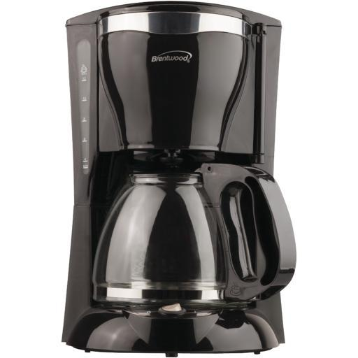 Brentwood Ts-217 12-Cup Coffee Maker 900W.Cool-touch housing & handle .12-cup capacity.Removable filter basket .Water level indicator .On/off switch .Tempered heat-resistant glass serving carafe .Warming plate to keep coffee hot .Antidrip feature.cETL listed.Black.12-Cup Coffee Maker