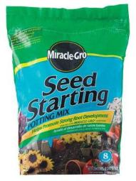 Miracle Gro 75078500 Seed Starting Potting Mix, 8 Quart