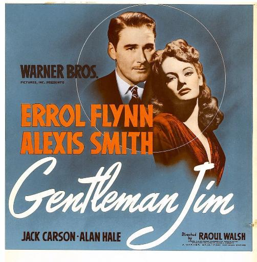 Gentleman Jim From Left: Errol Flynn Alexis Smith On Window Card 1942. Movie Poster Masterprint