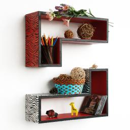 Enjoyable Life Gun-Shaped Leather Wall Shelf / Floating Shelf (Set of 2)