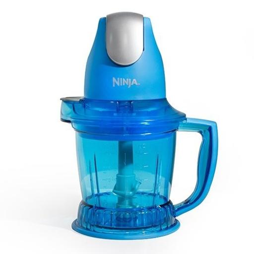 Ninja QB750 Storm Blender with Food & Drink Maker, Blue (Certified Refurbished)