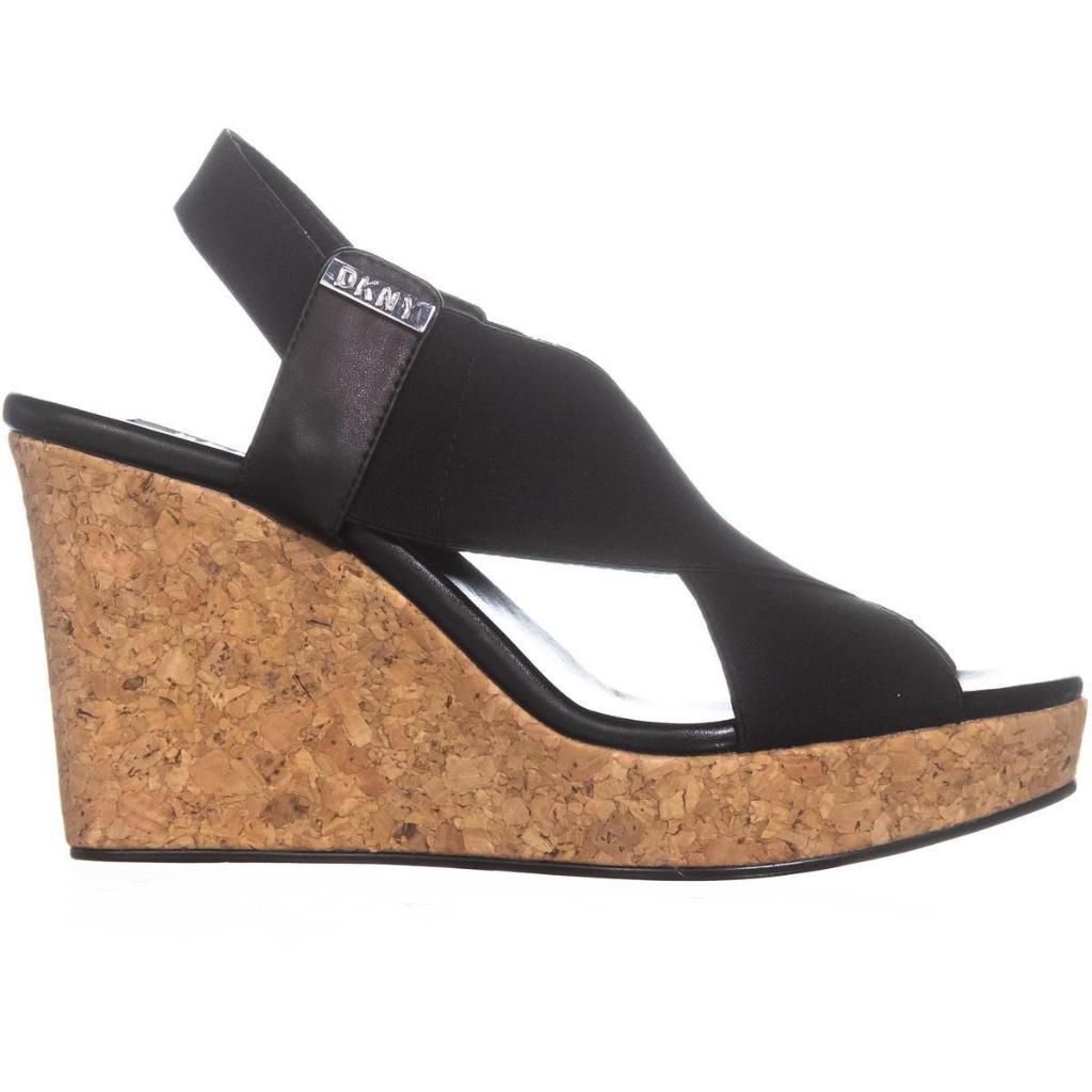 5bb218ee5ef DKNY DKNY Womens Jamara Open Toe Casual Platform Sandals