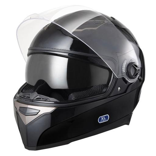 DOT Motorcycle Full Face Helmet Dual Visor ABS Scooter Street Bike Touring Adult