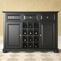 Crosley Alexandria Sideboard Cabinet with Wine Storage