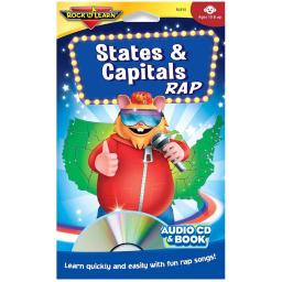 Rock n learn states  capitals rap cd  book 915