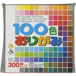 "Origami Paper 3""X3"" 300 Sheets Assorted Colors"