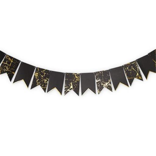 Cakewalk Party 6755 Noir and Gold Paper Cake Stand