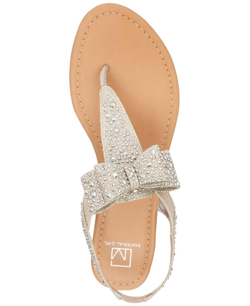 4aab3145f52 Material Girl Material Girl Womens Shayleen Open Toe Casual T-Strap Sandals