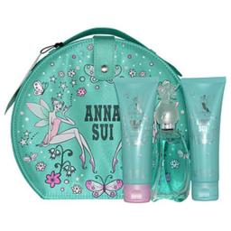 Anna Sui 247362 1.7 oz Secret Wish Eau De Toilette Spray, 3 oz Body Lotion & 3 oz Shower Gel for Women