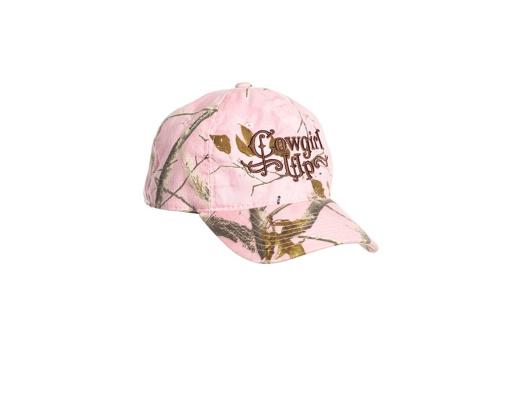 Cowgirl Up Western Hat Womens Baseball Adjustable OS Pink Camo CGH5137 5AC33C1B539F6E0E