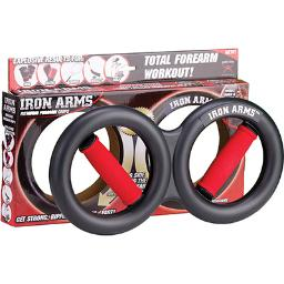 Iron Arms - Rotating Forearm Grips for Hands and Forearm Training