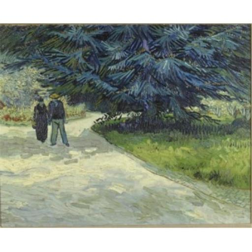 Posterazzi SAL900139875 Public Garden with Couple & Blue Fir Tree 1888 Vincent Van Gogh 1853-1890 Dutch Oil on Canvas Poster Print - 18 x 24 in.