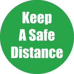 Flipside products keep a safe distance green antislip
