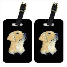 Carolines Treasures SS8960BT Golden Retriever Luggage Tag - Pair 2, 4 x 2.75 In.