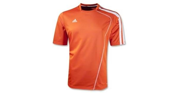 4186d5ee3 Adidas Boys Sossto Soccer Jersey T-Shirt Orange White Size Youth