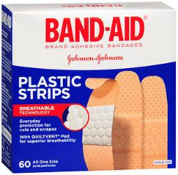 Band-aid Plastic Strips Bandages All One Size - 60 Ct, Pack Of 4