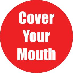 Flipside products cover your mouth red antislip floor