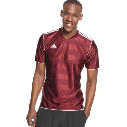 1365f6336 Adidas Men s Tabela 11 Jersey T-Shirt Marron  White Size Small