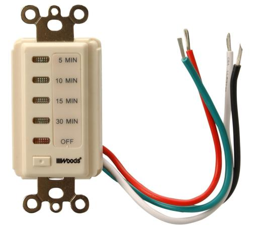 Woods 59720 In-wall Digital Timer, 15 Amp, Light Almond