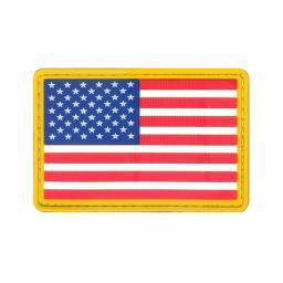 "Rothco PVC US Flag Patch with Hook Back, 2"" x 3"", Red/White/Blue 21777"
