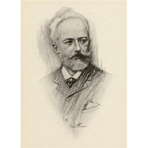 Posterazzi DPI1838795LARGE Pyotr Ilyich Tchaikovsky 1840-1893 Russian Composer Portrait by Chase Emerson American Artist 1874-1922 Poster Print, Large
